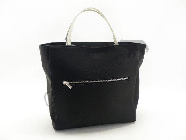 czarna piękna torebka skórzana