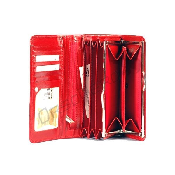 czerwony portfel damski