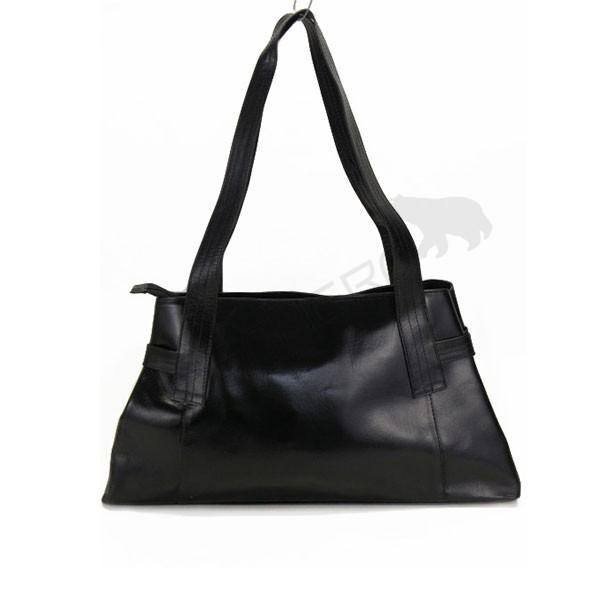 czarna skórzana torebka damska