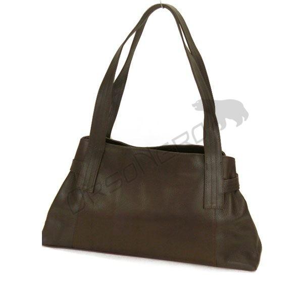 brązowa skórzana torebka damska