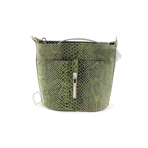 zielona Elegancka torebka krokodyl