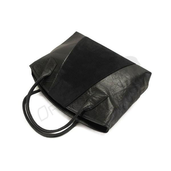 czarna torebka skórzana z wstawką