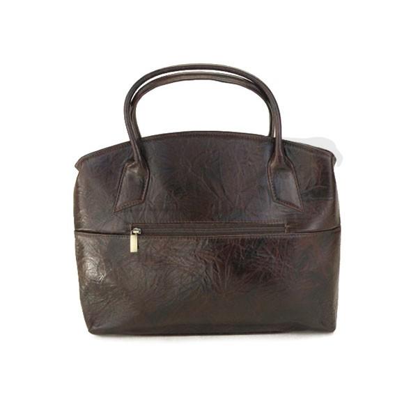 brązowa torebka skórzana z wstawką