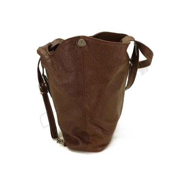 brązowa Plecako-torebka skórzana