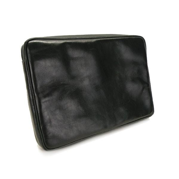 czarny Skórzany pokrowiec na laptopa