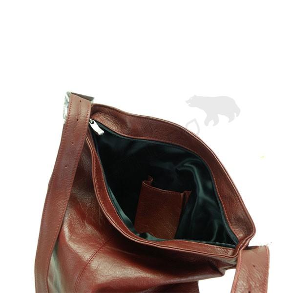 bordowa Torebka na ramię typu worek