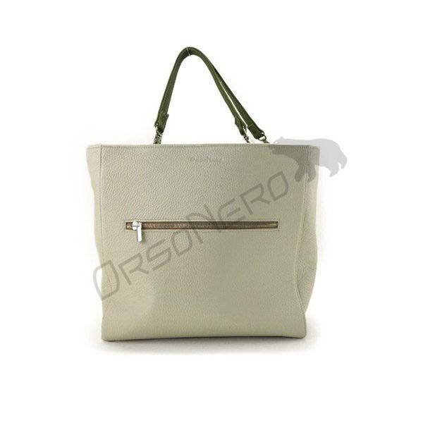 beżowa piękna torebka skórzana