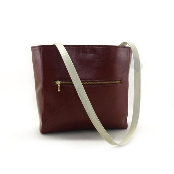 bordo piękna torebka skórzana