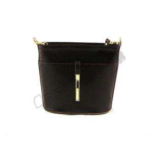 czarna Elegancka torebka z odpinanym paskiem