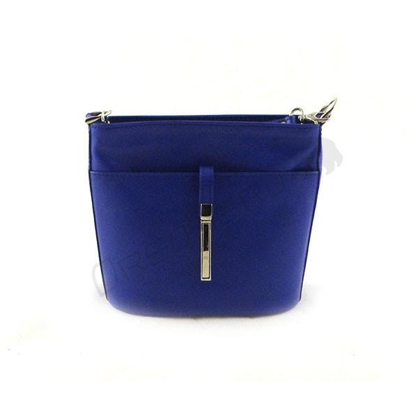 niebieska Elegancka torebka z odpinanym paskiem