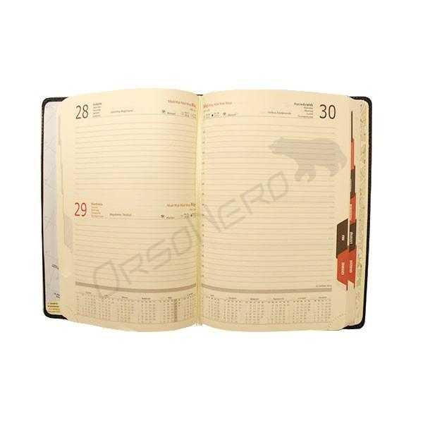 skórzany kalendarz dzienny
