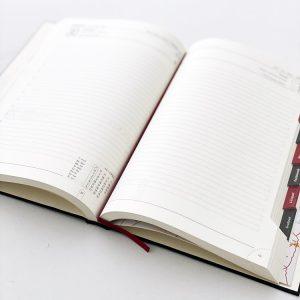 Kalendarz A5 Dzienny Oprawiony Podszewką