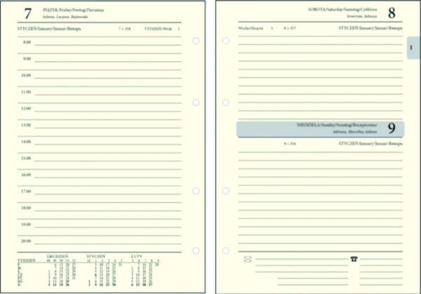 Wkład Do Organizera A5 (Kalendarz)